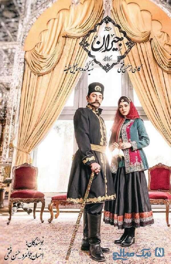 پریناز ایزدیار و بهرام رادان در سریال جیران