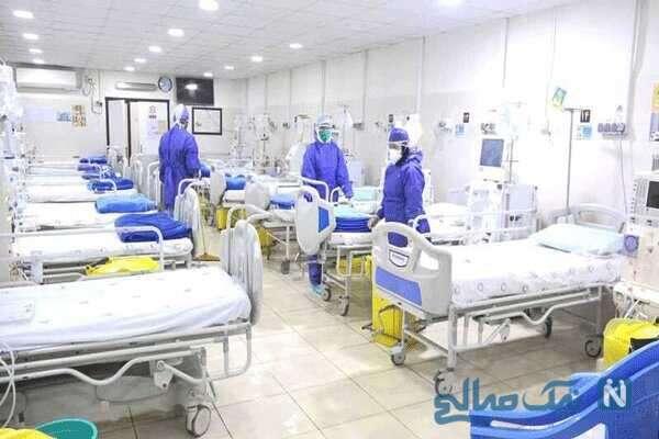 بستری کرونایی ها در استادیوم ورزشی و ویدیو بیمارستان صحرایی مسیح دانشوری