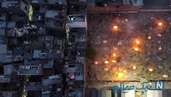 سوزاندن جسد در هند بصورت دسته جمعی