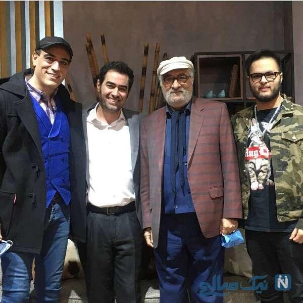 شهاب حسینی با داریوش ارجمند در کنار پسرانشان
