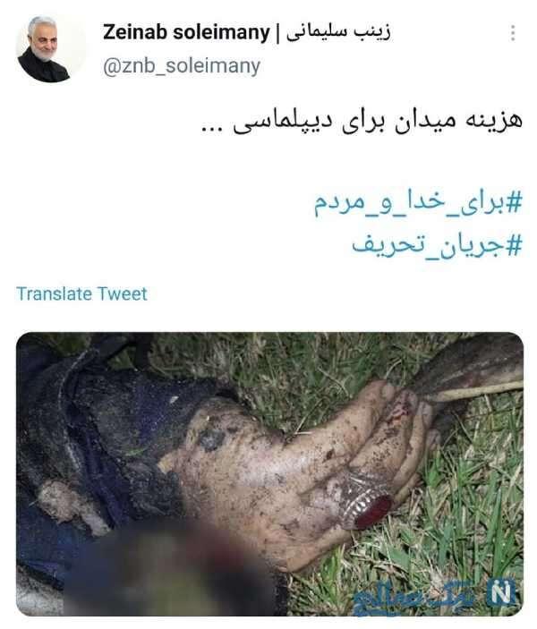 توئیت جدید زینب سلیمانی