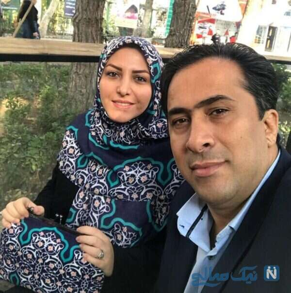 المیرا شریفی مقدم مجری شبکه خبر و همسرش
