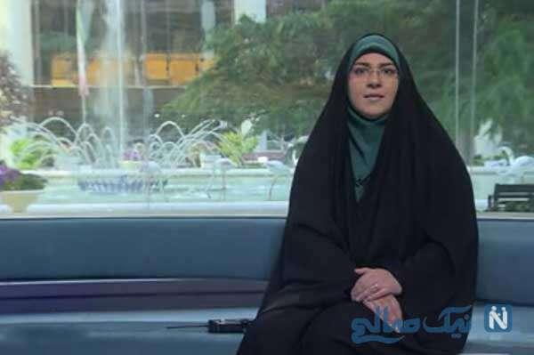 تُپُق جالب گوینده زن خبر بامدادی شبکه یک در برنامه زنده