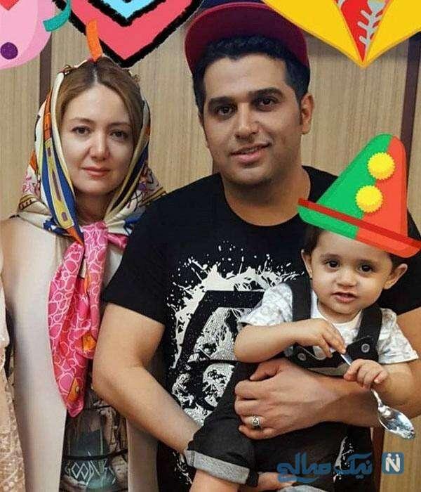 تصویری از حمید عسکری با همسرش
