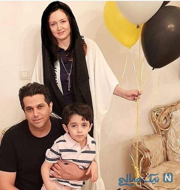 همسر و پسر حمید عسکری