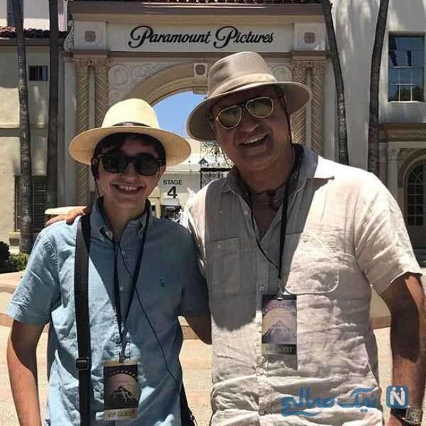حمید فرخ نژاد با پسرش در خارج