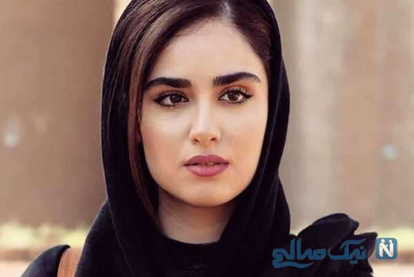 استایل جذاب و بهاری هانیه غلامی بازیگر سریال همبازی در باغ پر از گل