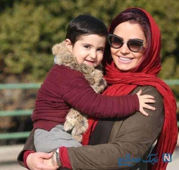 بازیگر ایرانی سپیده خداوردی و پسرش