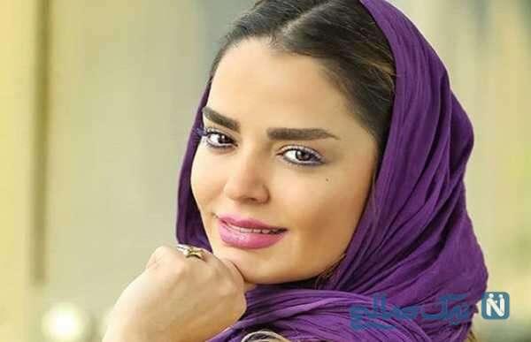 ست شال و کیف بازیگر ایرانی سپیده خداوردی به رنگ سال