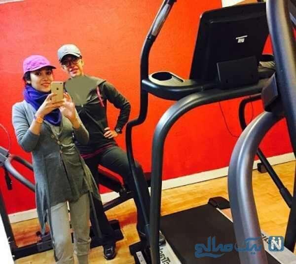 ورزش کردن خانم بازیگر