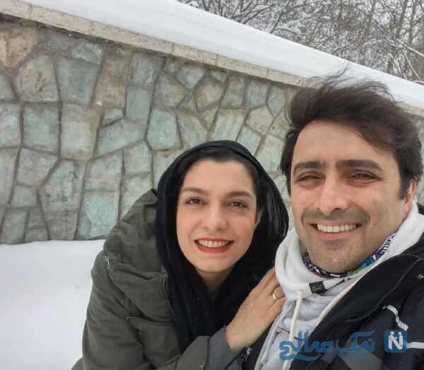 بازیگر ایرانی الیکا عبدالرزاقی و همسرش