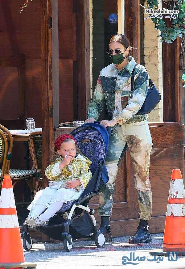 ایرینا شایک و دختر چهار ساله اش