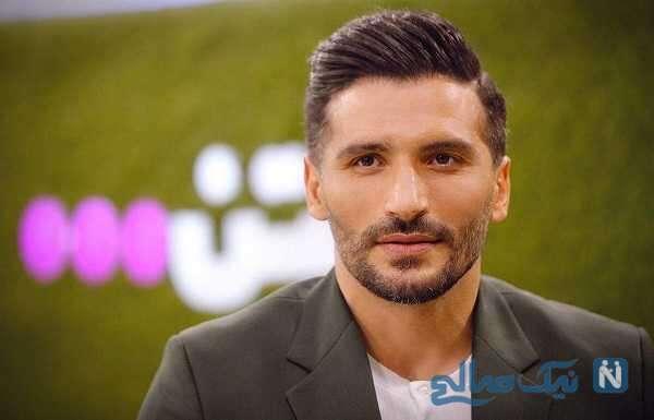 جواد کاظمیان فوتبالیست معروف با سینا مهراد در باشگاه