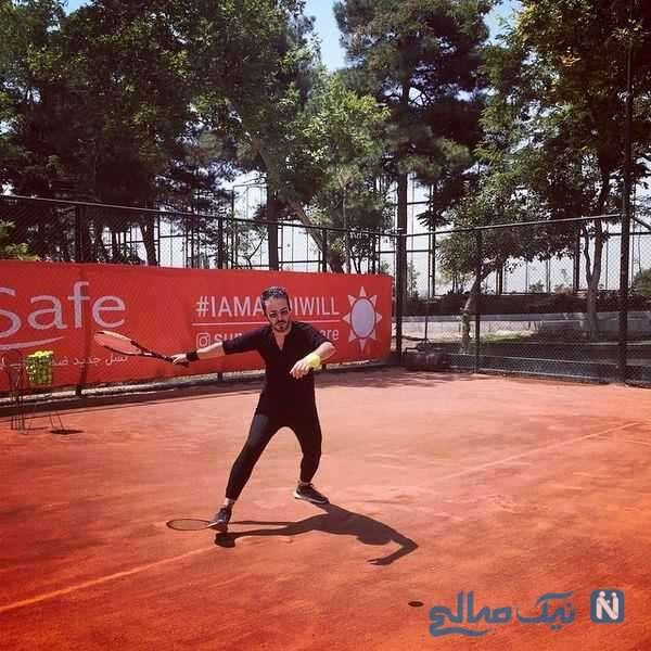 تنیس بازی کردن کاوه سماک باشی