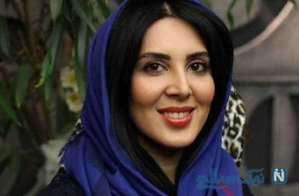 موتور سواری لیلا بلوکات بازیگر معروف با لباس مخصوص و کلاه کاسکت