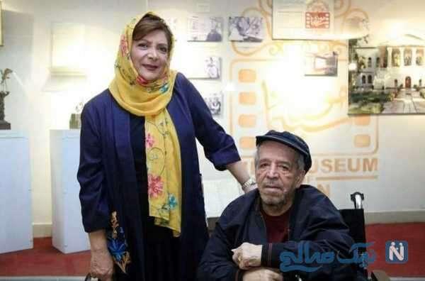 مهوش وقاری بازیگر ایرانی و همسرش