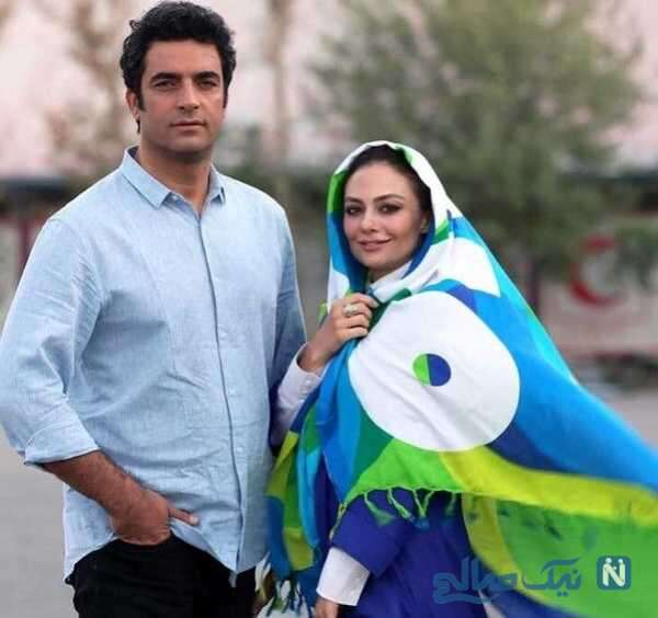 تصویری از منوچهر هادی وهمسرش یکتا ناصر