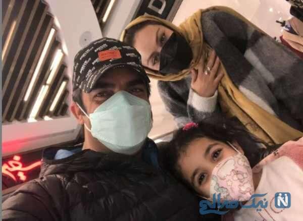 سلفی منوچهر هادی با همسر و دخترش