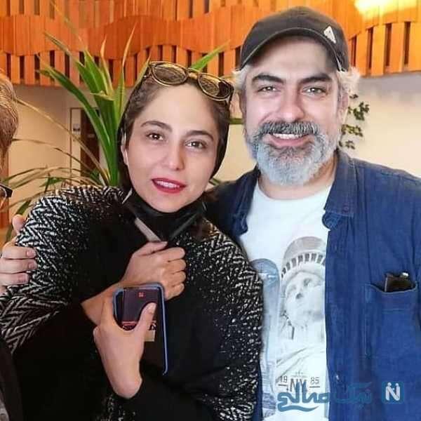 تصویری از مهدی پاکدل در کنار همسرش