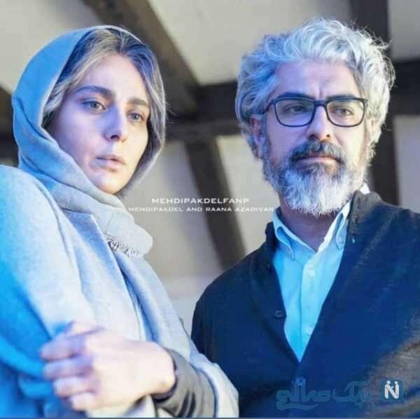 مهدی پاکدل و همسرش در فیلم آمین