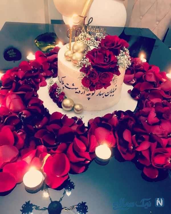 کیک تولد مبینا نصیری