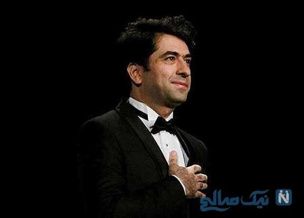 محمد معتمدی خواننده در روز اول ماه مبارک رمضان بر مزار استاد شجریان