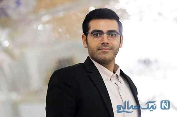 سلفی جالب محمدرضا رهبری بازیگر بچه مهندس ۴ با همسرش
