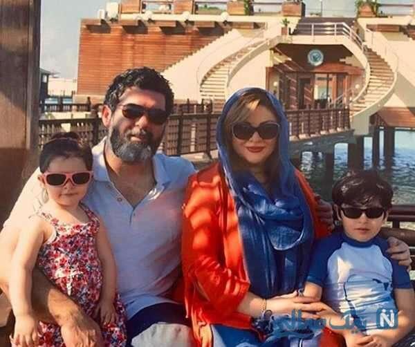 مصطفی کیایی و فرزندانش و همسرش