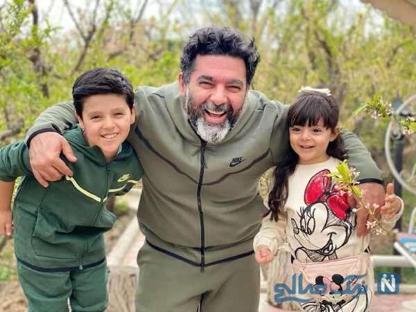 مصطفی کیایی در کنار همسر و دخترش