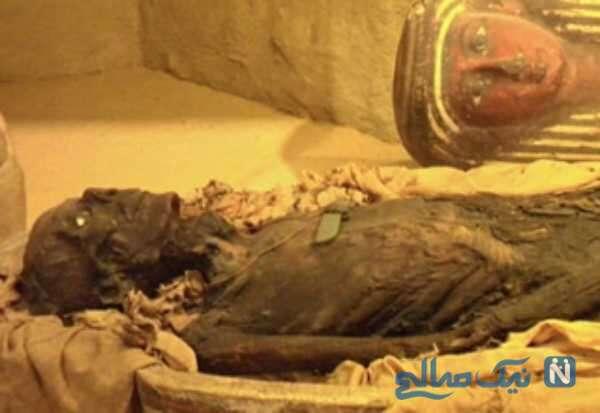 اسکلت مومیایی زن 1300 ساله