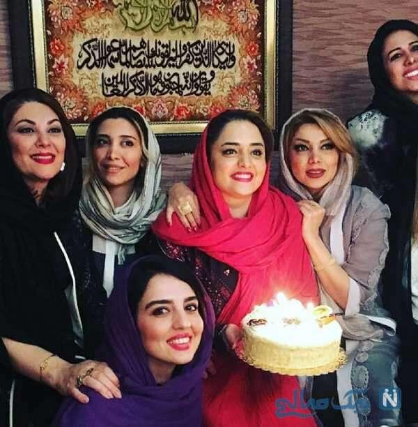 جشن تولد نرگس محمدی کنار خانم های بازیگر