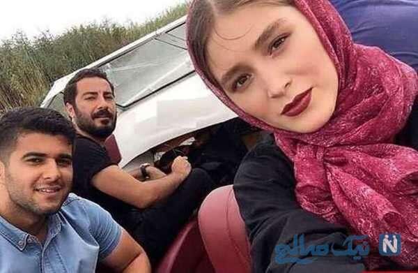 تصویری از نوید محمدزاده و فرشته حسینی