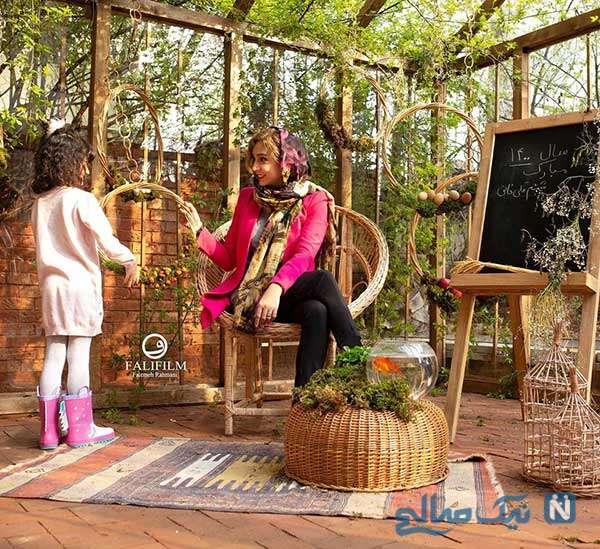 تصویر جدید شبنم قلی خانی با دخترش