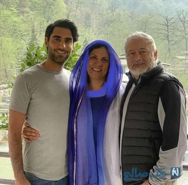 مجید مشیری در کنار همسر و پسرش
