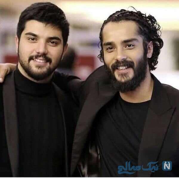 عکس سینا مهراد و برادرش