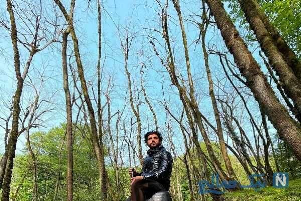 تفریحات سینا مهراد در جنگل