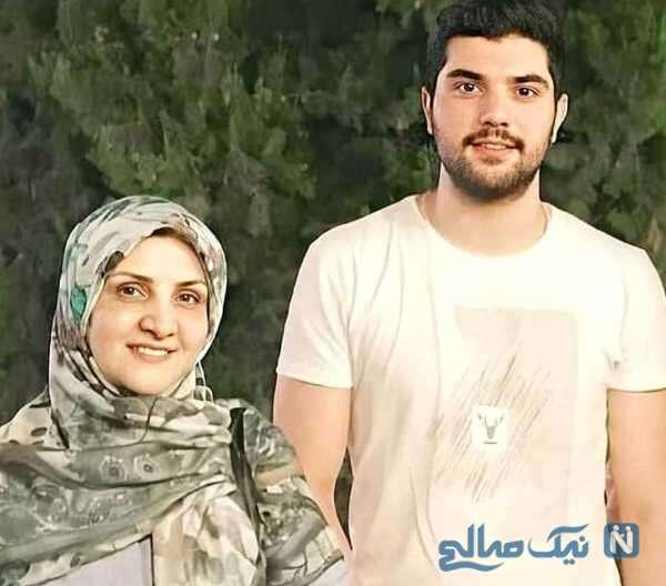 بازیگر سینا مهراد و مادرش