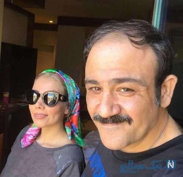 عکس مهران غفوریان با همسرش آرزو
