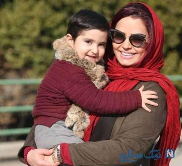 عکس سپیده خداوردی با پسرش سانیار