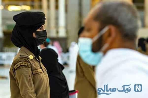 پلیس خانم در مسجد جامع مکه