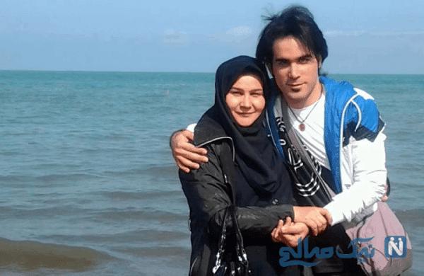 خواننده پاپ محسن یگانه و مادرش