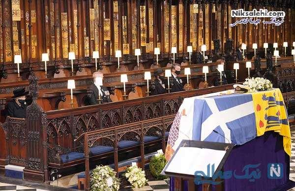 تابوت پرنس فیلیپ در کلیسا