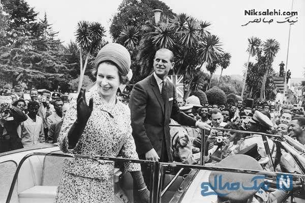 ملکه الیزابت و همسرش در اتیوپی