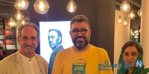 بازیگران معروف و رضا رشیدپور در کیش