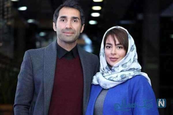 سمانه پاکدل با همسرش هادی کاظمی