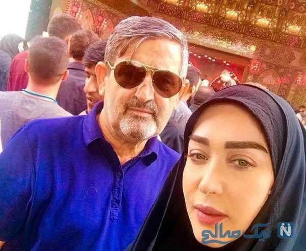 بازیگر سارا منجزی پور و پدرش