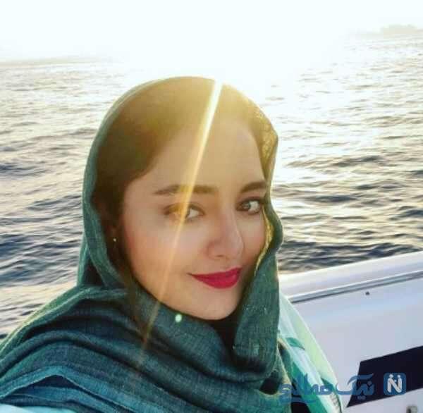نرگس محمدی در دریا
