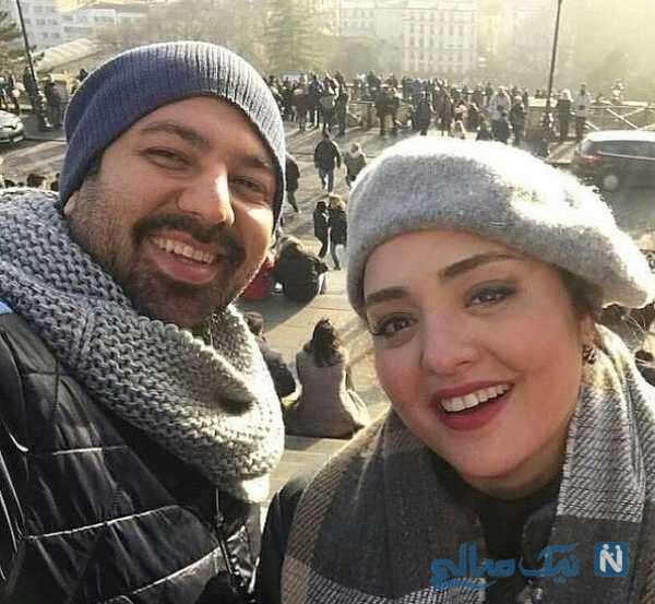عکس سلفی نرگس محمدی و همسرش