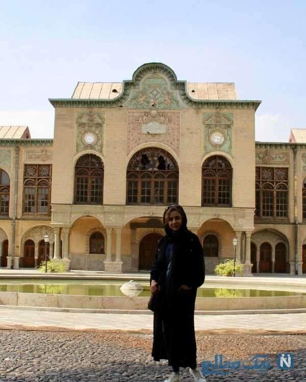 تصاویر شبنم قلی خانی در عمارت مسعودیه