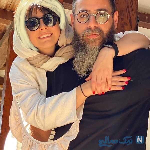عاشقانه های شبنم قربانی و همسرش